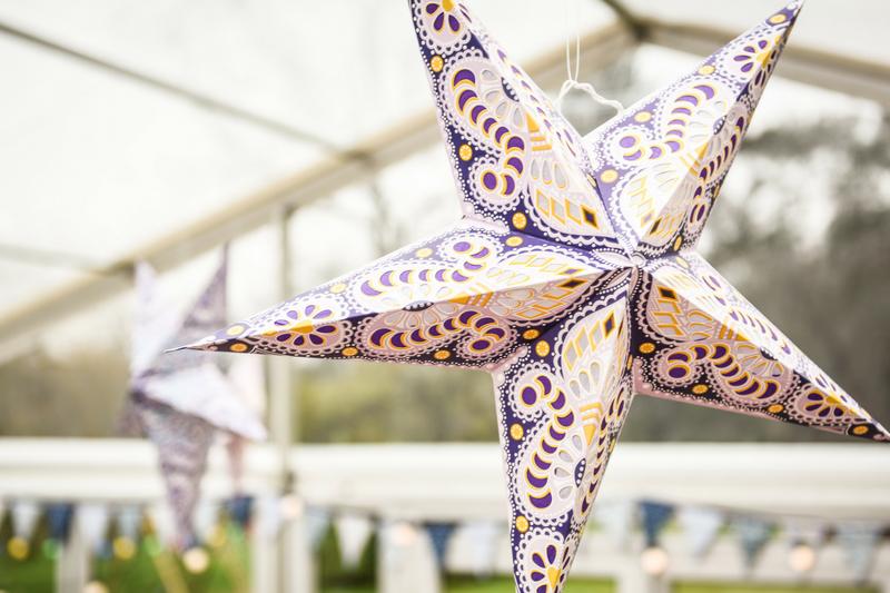 unusual wedding reception ideas - star lights